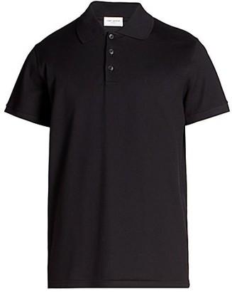 Saint Laurent Logo Polo Shirt