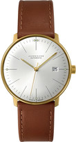 Junghans 027/7700.00 Max Bill stainless steel and leather automatic watch