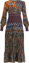 Saloni Vera floral-print silk-georgette dress