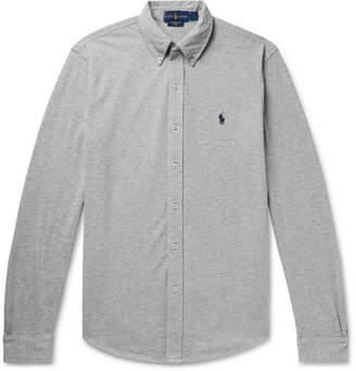 Polo Ralph Lauren Button-Down Collar Cotton-Pique Shirt