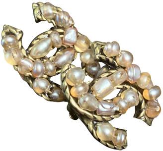Chanel CC Ecru Pearls Earrings