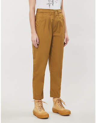 Levi's High-rise cotton-twill trousers