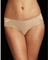 Maidenform Women's Microfiber and Mesh Cheeky Hipster, Latte Lift