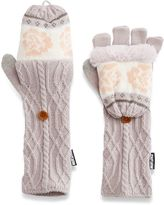 Muk Luks Women's Cottage Rose Convertible Flip-Top Tech Mittens
