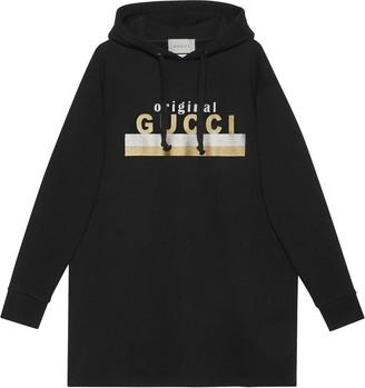 "Gucci ""Original print hooded dress"