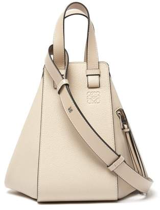 Loewe Hammock Small Leather Tote Bag - Womens - Light Grey