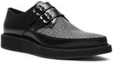 Lanvin Contrast Leather Monk Shoes