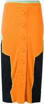 Maison Margiela colour block knitted skirt - women - Cotton/Polyester - S