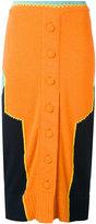 Maison Margiela colour block knitted skirt