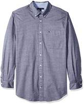 Tommy Hilfiger Men's Big and Tall capote Long Sleeve Shirt