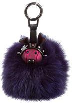 MCM Robbit Fox Fur Bag Charm