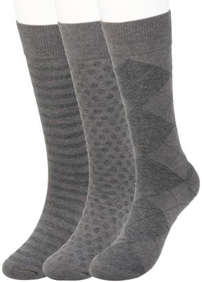 Haggar Big & Tall Comfort Solid Textured Crew Socks (3 pack)