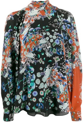 Givenchy Floral Turtle Neck Blouse