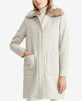 Lauren Ralph Lauren Faux-Fur-Trim Full-Zip Coat