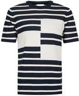 Topman Topman Premium Navy And White Stripe T-shirt