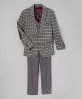 Isaac Mizrahi Gray Plaid Three-Piece Suit Set - Kids & Tween