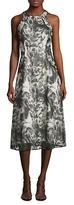 Rachel Roy Sequin Lace Midi Dress