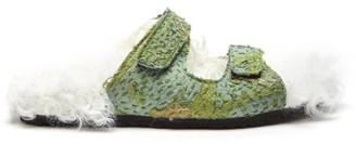 By Walid Yves 19th-century Shearling-lined Sandals - Womens - Khaki White