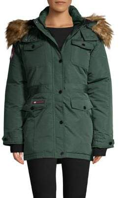 Canada Weather Gear Faux-Fur Hooded Parka