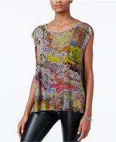 Rachel Roy Graffiti-Print T-Shirt, Only at Macy's