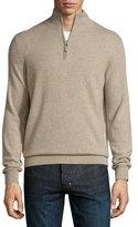 Neiman Marcus Cashmere Half-Zip Sweater, Rocky Beach