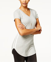Almost Famous Juniors' Sporty Side-Stripe Tunic T-Shirt