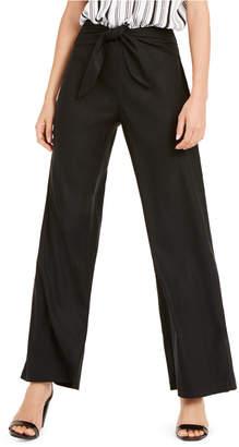 INC International Concepts Inc Wide-Leg Paper Bag Tie Waist Pants