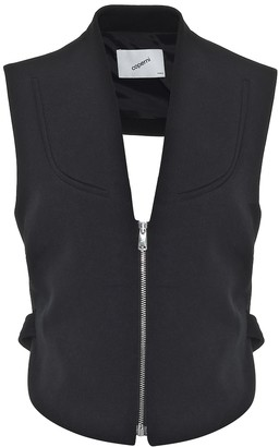 Coperni Cut-out crepe vest