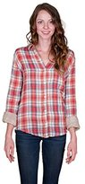 Velvet by Graham & Spencer Women's Plaid Button Down Shirt