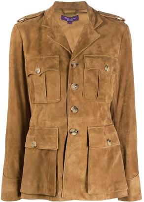 Ralph Lauren Bryn single-breasted suede jacket