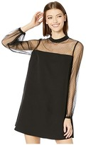 BB Dakota In The Mesh Crepe Shift Dress (Black) Women's Dress