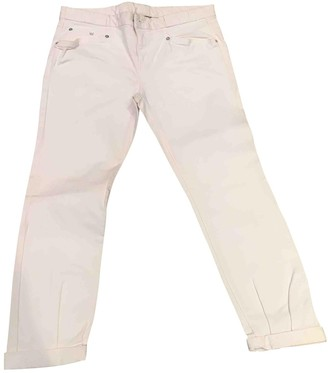 Theory White Cotton Trousers