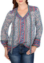 Lucky Brand Floral Printed Blouse