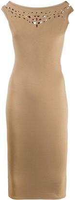Murmur Cut-Detail Midi Dress
