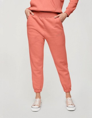 Miss Selfridge signature jogger in coral pink