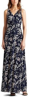 Lauren Ralph Lauren Aariane Dress (Lighthouse Navy/Blush/Multi) Women's Dress