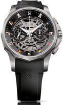 Corum Admiral Legend 47 chronograph titanium rubber strap automatic watch