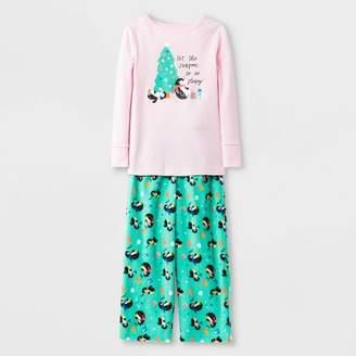 Cat & Jack Toddler Girls' Penguin Tree Pajama Set - Cat & JackTM Pink/Green
