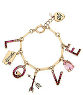 Betsey Johnson Hearts And Arrows Love Charm Bracelet