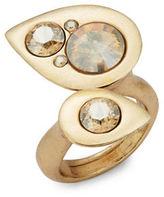 Oscar de la Renta Stone-Accented Teardrop Wrap Ring