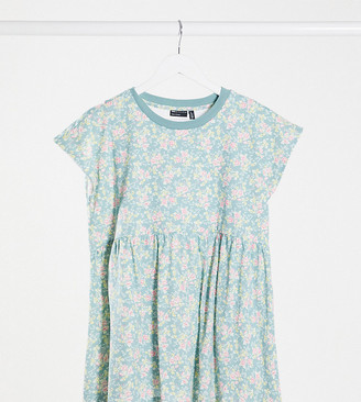 Asos Maternity   Nursing ASOS DESIGN Maternity nursing smock top with crochet hem in print