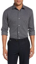 Eleventy Men's Trim Fit Dot Jaquard Sport Shirt