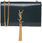 Saint Laurent Monogramme Embossed Chain Tassel Shoulder Bag