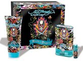 Christian Audigier Ed Hardy Hearts & Daggers by for Men 3 Piece Set Includes: 1.7 oz Eau de Toilette Spray + 3.0 oz Hair & Body Wash + 0.25 oz Eau de Toilette Travel Spray