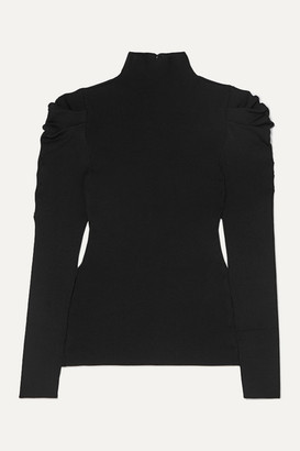 Alice + Olivia Cece Ribbed-knit Turtleneck Sweater - Black