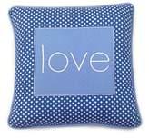 One Grace Place Simplicity Blue Decorative Pillow Love, Blue, Light Blue, White by