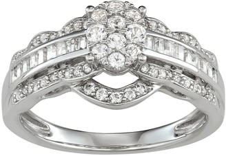 Lovemark 10k White Gold 3/4 Carat T.W. Diamond Engagement Ring