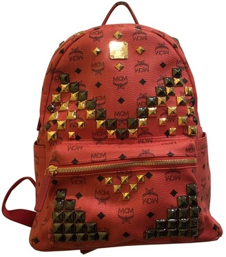 MCM Red Leather Backpacks