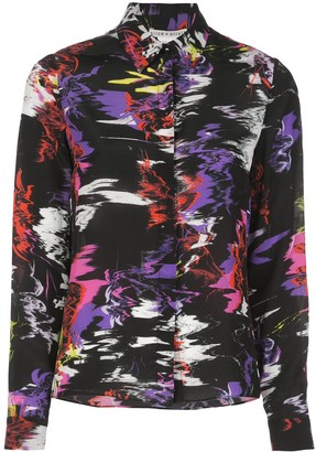 Alice + Olivia Abstract-Print Silk Shirt
