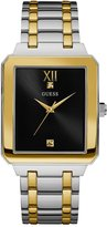 GUESS Gold and Silver-Tone Rectangle Watch